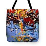 Action Abstraction No. 6 Tote Bag