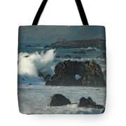 Action On The Rocks Tote Bag