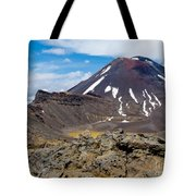Active Volcanoe Cone Of Mt Ngauruhoe New Zealand Tote Bag