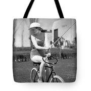 Actress Plays Bike Polo Tote Bag