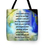 Acts 2 Verse 17 Tote Bag