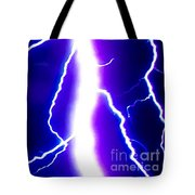 Actual Lightning In Zoom Image Tote Bag