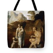 Adam And Eve With Cain And Abel Tote Bag