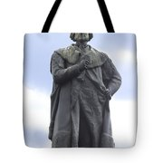 Adam Black Statue And Friend Tote Bag by Mike McGlothlen