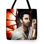 Adam Dragon Warrior Tote Bag