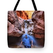 Adam Jewell At Capitol Reef Shower And Laundromat Tote Bag by Adam Jewell