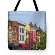 Adams Morgan Neighborhood In Washington D.c. Tote Bag