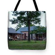 Log Cabins And House Tote Bag
