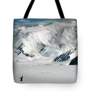 Adelie Penguins Trekking On The Ice Tote Bag