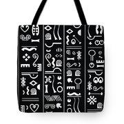 Adinkraglyphics Tote Bag