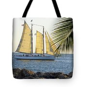 Sailing On The Adirondack In Key West Tote Bag
