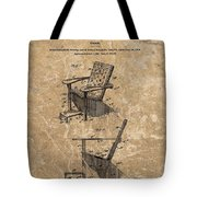 Adirondack Chair Patent Tote Bag