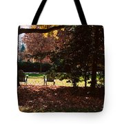 Adirondack Chairs-3 - Davidson College Tote Bag