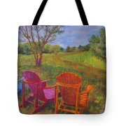 Adirondack Chairs In Leiper's Fork Tote Bag