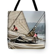 Adjusting The Sails Tote Bag