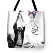 Adjusting  Torch Statue Of Liberty Statue July 4th Parade Tucson Arizona  Tote Bag