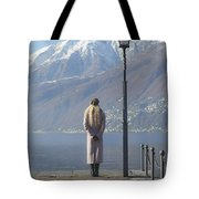 Admiring The Mountains Tote Bag