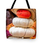 Adorable Cowboy Pumpkin Figures Made From Pumpkins Tote Bag