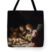 Adoration Of The Angels Tote Bag
