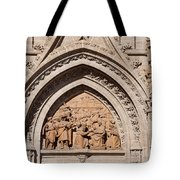 Adoration Of The Three Wise Men Relief Tote Bag