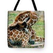 Adult Reticulated Giraffe Tote Bag