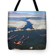 Adults Bathing In Hot Springs Tote Bag