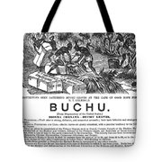 Advertisement: Buchu, 1871 Tote Bag