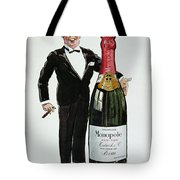Advertisement For Heidsieck Champagne Tote Bag by Sem