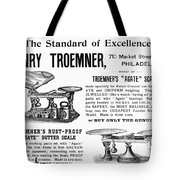 Advertisement Scales Tote Bag