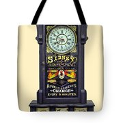 Advertising Clock Tote Bag