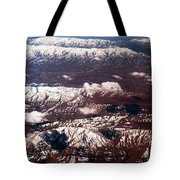 Aeial View Of The Snowy Mountains Tote Bag