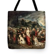 Aeneas And His Family Departing From Troy Tote Bag