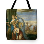 Aeneas Taking Leave Of Dido Tote Bag