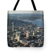 Aerial Image Of The Seattle Skyline  Tote Bag