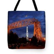 Aerial Lift Bridge Tote Bag