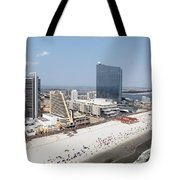 Aerial Of Downtown Atlantic City Tote Bag