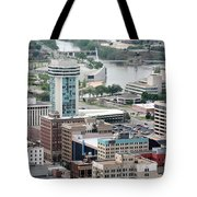Aerial Of Downtown Wichita Tote Bag