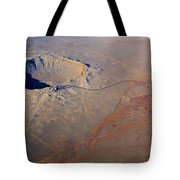 Aerial Of Meteor Crater Tote Bag