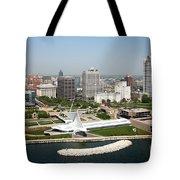 Aerial Of Milwaukee Skyline Tote Bag