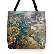 Aerial Of Rocky Mountains Over Montana State Tote Bag