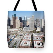 Aerial Of The Houston Skyline Tote Bag