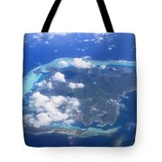 Aerial Over Atoll Tote Bag