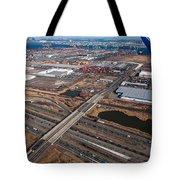 Aerial Over Newark Tote Bag