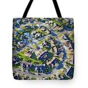 Aerial Pattern Of Residential Homes Tote Bag