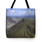Aerial View Honolulu Hawaii Tote Bag