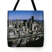 Aerial View Of A City, Seattle Tote Bag