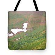 Aerial View Of Alaskan Landscape Tote Bag