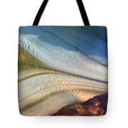 Aerial  View Of An Antarctica Glacier Flow Tote Bag