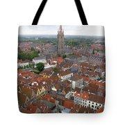 Aerial View Of Bruges Belgium Tote Bag