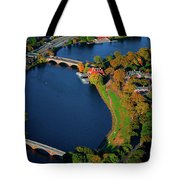 Aerial View Of Charles River With Views Tote Bag